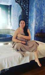 Oana Roman a mers la masaj