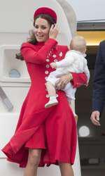 În Noua Zeelandă, în 2014, cu Prințul George.