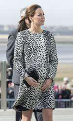 Însărcinată cu Prințesa Charlotte (2015).