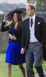 Kate și William, invitați la o nuntă, în octombrie 2010.