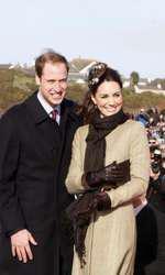 Prințul William și Kate Middleton, în 2011.