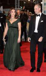 La BAFTA 2018, Kate Middleton a purtat o rochie creată de Jenny Packham