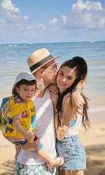 Vladimir Drăghia, cu Alice și fiica lor, Zora, în Republica Dominicană