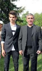Gheorghe Hagi și fiul său, Ianis