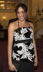 În rochia Safiyaa creată de Clare Waight Keller, cea care i-a făcut și rochia de mireasă.