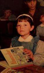 Elena Gheorghe în copilărie