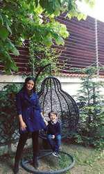 Andreea Mantea și fiul ei, David