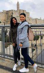 Corina și Alexandra Caragea, aici în Israel