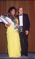 Franco Zeffirelli alaturi de Elizabeth Taylor în 1985