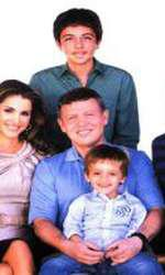 Regina Rania, Regele Abdullah al II-lea al Iordaniei și cei patru copii ai lor.
