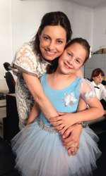 Livia Dilă şi fiica ei, Maria Sophia