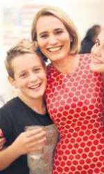 Andreea Esca are doi copii, Alexia şi Aris