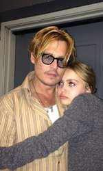 Johnny Depp și fiica sa, Lily-Rose. Cei doia u o relație foarte bună