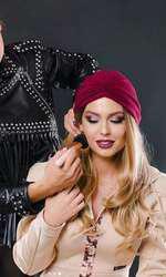 Sora Mishei e makeup artist (foto Ionatan Tutu pt Misha)