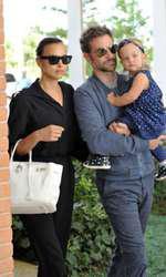 Irina, Bradley și fiica lor Lea De Seine, în Veneția.