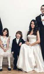 Anca Serea și Adi Sînă s-au căsătorit pe 6 noiembrie 2015. În fotografie, alături de ei sunt: David, Sara, Noah și Ava