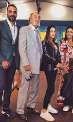 Ion Ţiriac, alături de fiica lui, Ioana Ţiriac, Sophie Ayad şi fetiţa ei din altă căsătorie şi Alexandru Ţiriac
