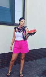 Ioana Ginghină ţine dieta cu pepene roşu