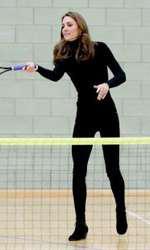 Kate Middleton este o fire activă