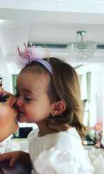 Imagini de la botezul lui Iris, fetiţa Gabrielei Cristea