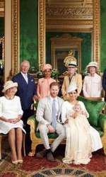Familia regală britanică, la botezul lui Archie