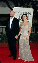 Bruce Willis și Demi Moore, în 1997