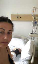 Gabriela Cristea a ajuns la spital cu fetița cea mică