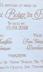 Invitația la nunta Andreei Bălan