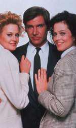 """În """"Working Girl"""", filmul care a făcut-o celebră, alături de Sigourney Weaver și Harrison Ford."""