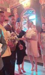 Imagini de la botezul lui Iris, fetiţa Gabrielei Cristea şi a lui Tavi Clonda