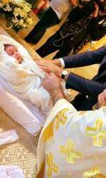 Imagini de la botezul fiicei Alessandrei Stoicescu