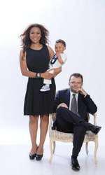 Nadine, alături de soțul său și de băiețelul lor, Noah