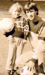"""Radu """"Jimi"""" Drăgușanu și Bianca, la 4 ani."""