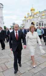 Vladimir Putin şi fosta soţie, Liudmila, în 2012