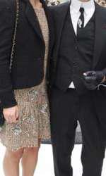 Keira Knightley și Karl Lagerfeld