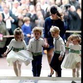 domnisoara de onoare, printesa Beatrice, si alaiul mirilor, peintre care se afla si Charlotte si George