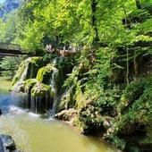 Cascada Bigar, turisti