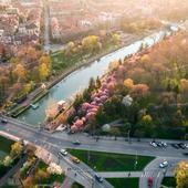 Timisoara. Canalul Bega vedere de sus