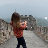 sportiva a desfacut o sampanie la Marele Zid Chinezesc