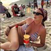 pe celebra plaja Copacabana