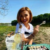 Diana e iubitoare de sushi