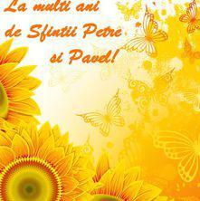 La multi ani de sfintii Petre si Pavel!