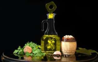 grăsimi sănătoase - ulei de măsline, nuci, fasole