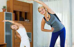 rutina sănătoasă - gimnastica de dimineață