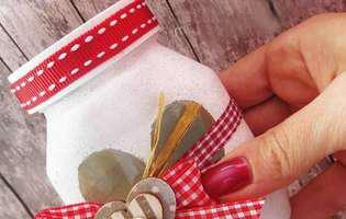 DIY Cadou de Valentine's Day - borcanul pentru bomboane