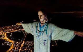 Statuia lui Iisus din Rio de Janeiro, luminată în semn de recunoștință pentru personalul medical