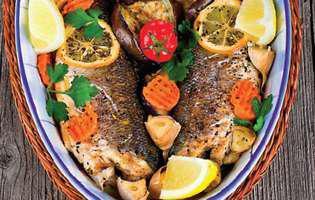 Pește cu legume