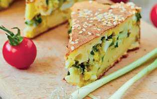 Plăcintă cu brânză și ouă