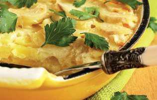 Cartofi gratinați