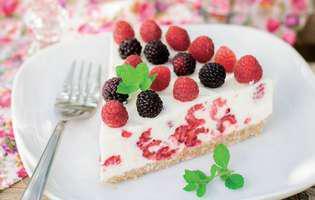 Cheesecake cu zmeură